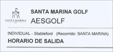 Clasificaciones del Torneo AESGOLF